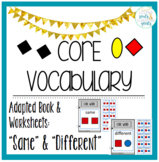 Core Word Adapted Book BUNDLE: Same & Different