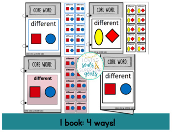 Core Word Adapted Book: Different