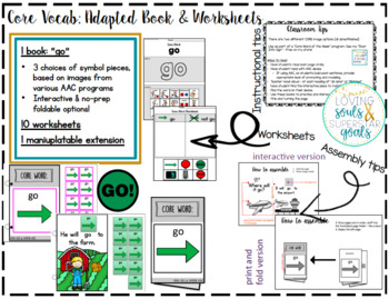 Core Word Adapted Book: Go
