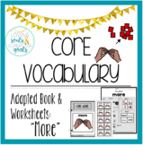 Core Word Adapted Book: More