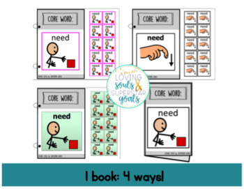 Core Word Adapted Book: Need