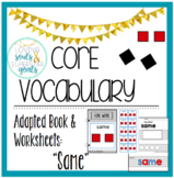 Core Word Adapted Book: Same