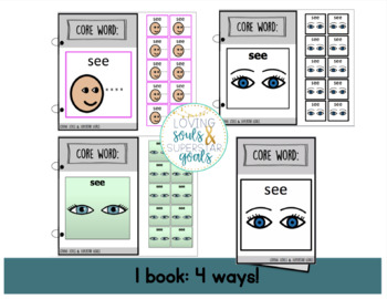 Core Word Adapted Book: See