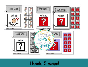 Core Word Adapted Book: What