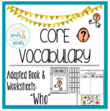Core Word Adapted Book: Who