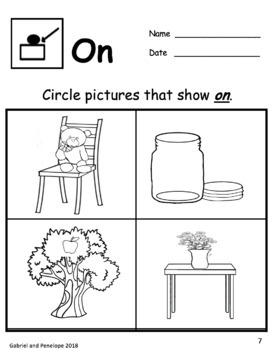 Core Word Basic Concepts Worksheets
