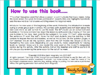 Core Word Book #2: I