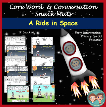 Core Word & Conversation Snack Mats: Space