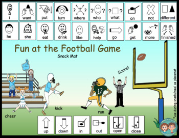Core Word & Conversation Snack Mats: Football