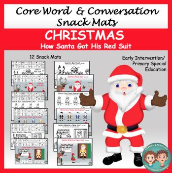 Core Word & Conversation Snack Mats: Christmas
