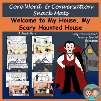 Core Word & Conversation Snack Mats: Halloween