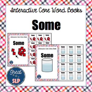 Core Word Interactive Book: Some