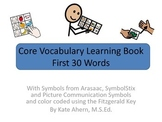 Core Word Learning Book for AAC