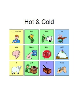 Core Word Lesson Plan to Teach Hot and Cold