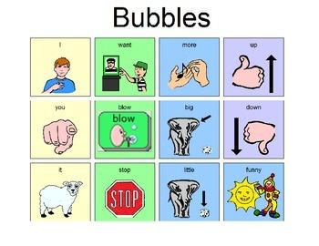 Core Word Manual Board - Bubble Activity