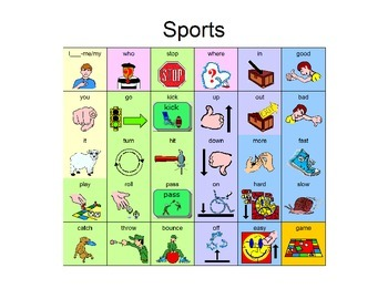 Core Word Manual Board - Sports 30 words