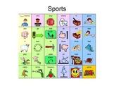 Core Word Manual Board - Sports 30 words