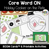 Core Word ON- Holiday Cookies On the Plate BOOM Cards and