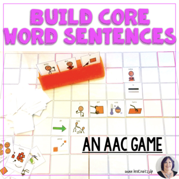 AAC Core Vocabulary Activity Phrase and Sentence Building Game