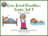 Core Word Practice: Verbs Set 1 with Boom Cards