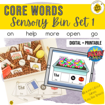 Core Word Sensory Bin for AAC Set 1
