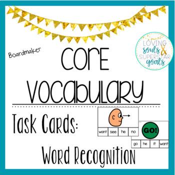 Core Word Task Cards: Boardmaker