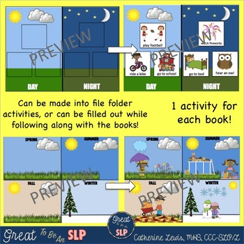 Core Word WHEN Bundle- 2 Interactive Books and 2 File Folders