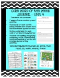 Core Word of the Week Journal - Unit 4