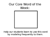 Core Word of the Week Sign