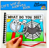 """Core Words Adapted Book And Activities:  """"What Do You See?"""""""