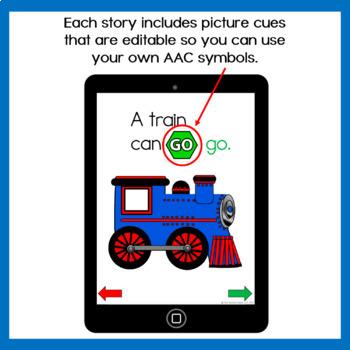 AAC Core Words No Print Stories Set 1