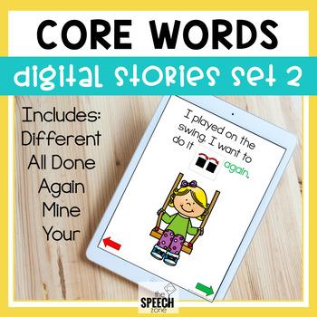 AAC Core Words No Print Stories Set 2