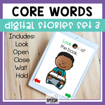 AAC Core Words No Print Stories Set 3