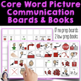 AAC Core Vocabulary No Prep Picture Communication Boards Set