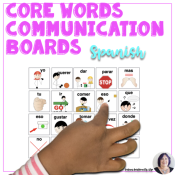 Core Words to Go in Spanish - Picture Communication AAC autism