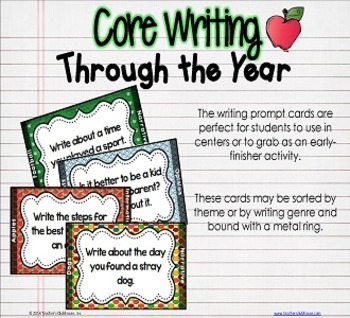 Core Writing Through the Year: August