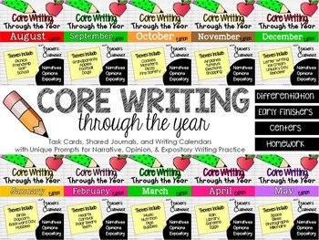 Core Writing Through the Year: BUNDLED SET (August-May)