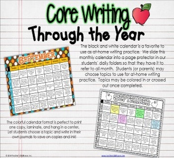 Core Writing Through the Year: October