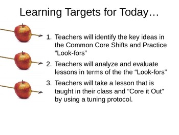 Core it out!  Common Core Staff Training on Applying the CCSS Look-fors