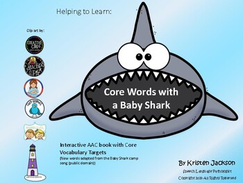 Core words with a baby shark