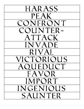CoreKnowledge Language Arts Unit 4: The Ancient Roman Civilization Words to Know