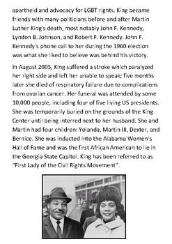 Coretta Scott King Handout