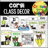 Corgi Dog Themed Classroom Decor Bundle