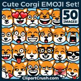 Corgi Emoji Clipart Faces / Pembroke Welsh Corgi Dog Emojis Emotions Expressions