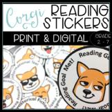 Corgi Emoji Reading Badges - For 40 Book Challenge