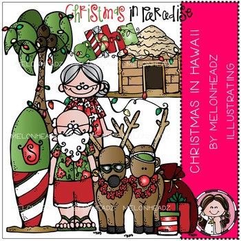 Melonheadz: Christmas in Hawaii clip art - COMBO PACK