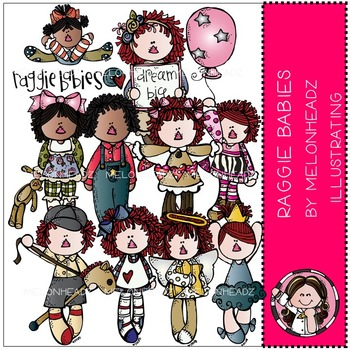 Melonheadz: Corinne's Raggie Babies clip art - COMBO PACK