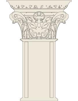 "Corinthian Column Clip Art (8.5"" x 11"")"