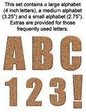 Cork Alphabet