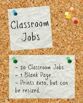 Cork Board Classroom Jobs